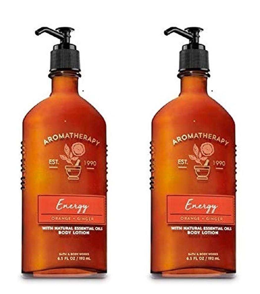 カール認める道に迷いましたBath & Body Works アロマエナジー - オレンジ+ジンジャーボディローション、6.5液量オンス、2枚組