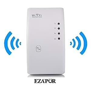 EZAPOR ワイヤレス-N 無線LAN中継機 IEEE802.11/n/g/b WPS対応 リピータ機能に搭載 無線LANエリアを拡大 300Mbpsハイパワー無線LAN中継機 Wifi Repeater 802.11N/B/G Network Router Range Expander 300M 2dBi Antennas Signal Boosters(ブラック)