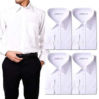 (アトリエサンロクゴ) atelier365 ワイシャツ 形態安定 長袖白Yシャツ全20サイズ 5枚セット/ 6041-set-sm-zaiko-4L-47-85