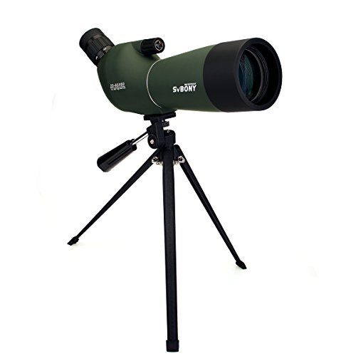 SVBONY フィールドスコープ 単眼望遠鏡 20倍-60倍 60mm 防水 三脚付き