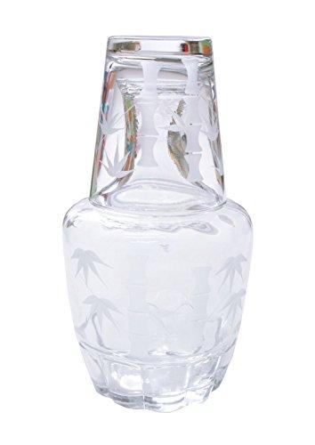 冠水瓶 竹切子(本体・冠コップ)