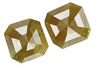 Natural LooseダイヤモンドRadiantペアイエローコーヒーカラーi3クラリティ2個CT 0.70CT kr352