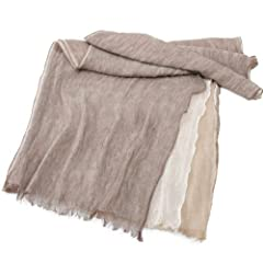 Linen Scarf 1351988: Brown