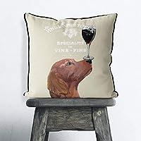 アイルランドのセッターギフトアイルランドのセッター枕犬の枕アイルランドのセッタークッションかわいい犬のギフト犬のクッションペット枕妻ギフトセッターオーナーギフトイギリス