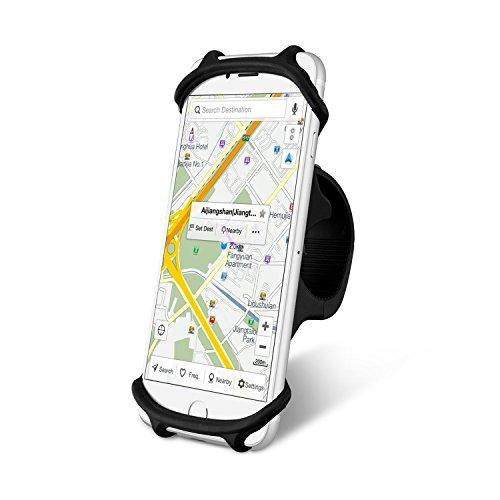 GIMart 自転車ホルダー スマホホルダー 自転車 スマホスタンド 携帯ホルダー シリコン製 バイクホルダー GPSナビ スマホ iPhone固定用 バイク ベビーカー Android/iPhone多機種対応