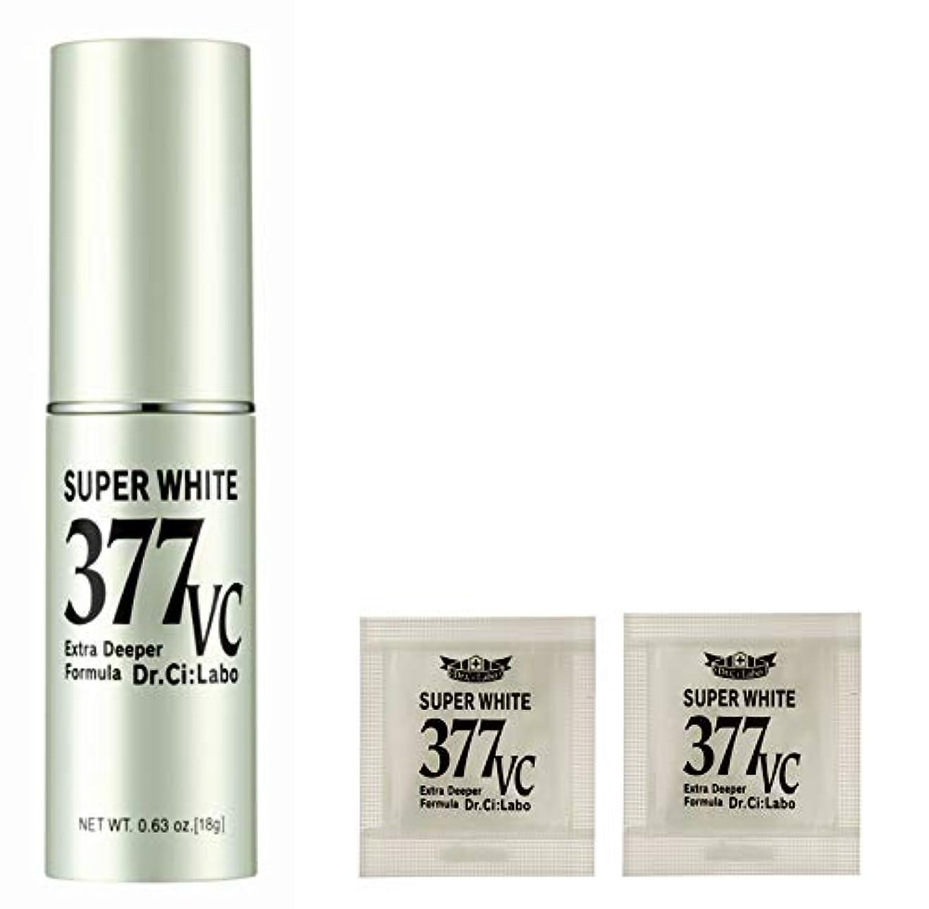 柔らかい無声で四回【Amazon.co.jp限定】 ドクターシーラボ スーパーホワイト377VC+サンプルパウチ 美容液 セット 18g+サンプル1回分付き