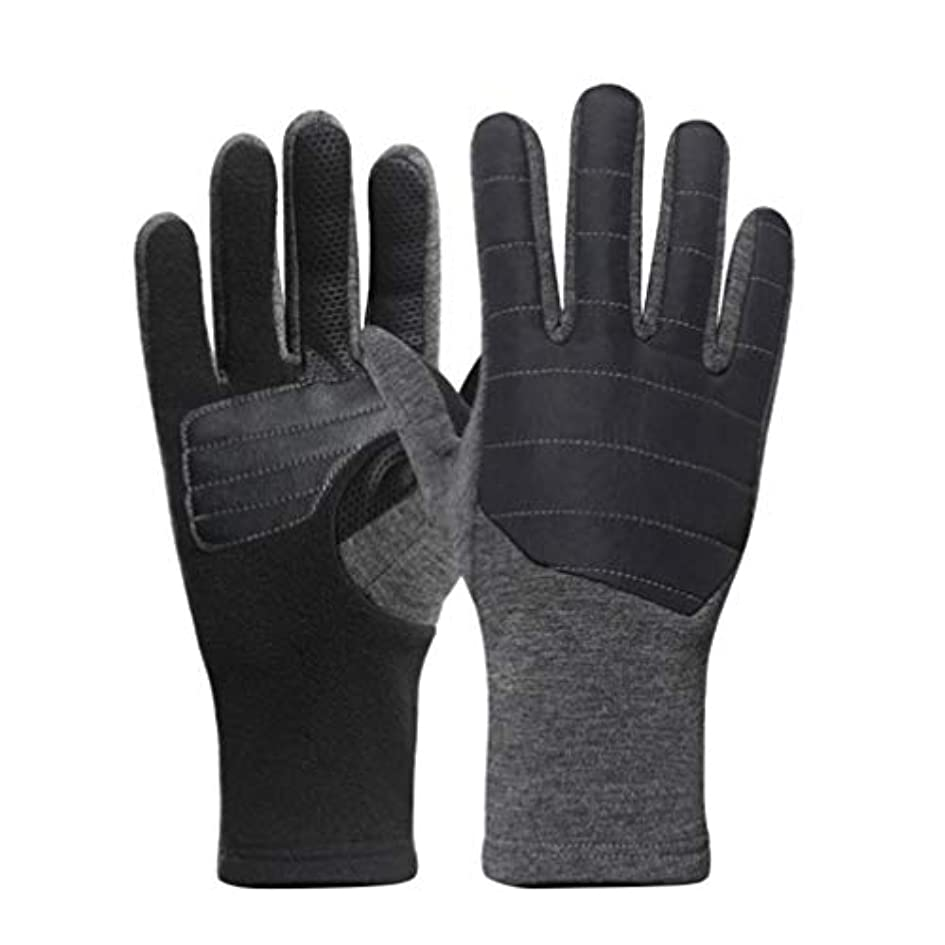 反射かみそり徹底的にLIOOBO 1ペア男性フリース手袋タッチスクリーン指手袋ぬいぐるみ冬手袋暖かい手衣装屋外乗馬登山ハイキング