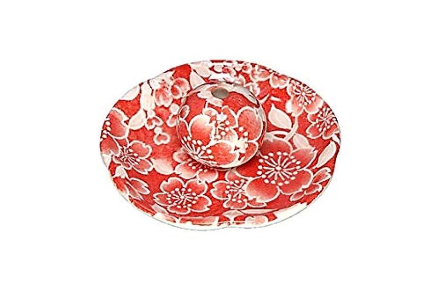 背骨男らしいタワー桜友禅 赤 花形香皿 お香立て お香たて 日本製 ACSWEBSHOPオリジナル