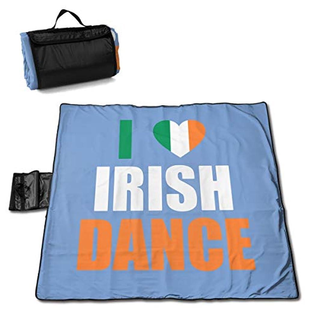 ゲージ他の場所好ましいアイルランドのダンスが大好き ピクニックマット レジャーシート ファミリー レジャーマット 防水 防潮 マット 折り畳み 持ち運び便利 四季適用び おしゃれ花火大会 運動会 遠足 キャンプ 145×150cm