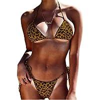 Women Push up Leopard Print 2 Piece Bikini Sets Swimsuits