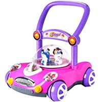 YXXHM- 子供用 トロリー 赤ちゃん用玩具 車 トロリー 調節可能 スピード音楽 1-3歳 ウォーカー 手と目の協調 親子通信 404343cm