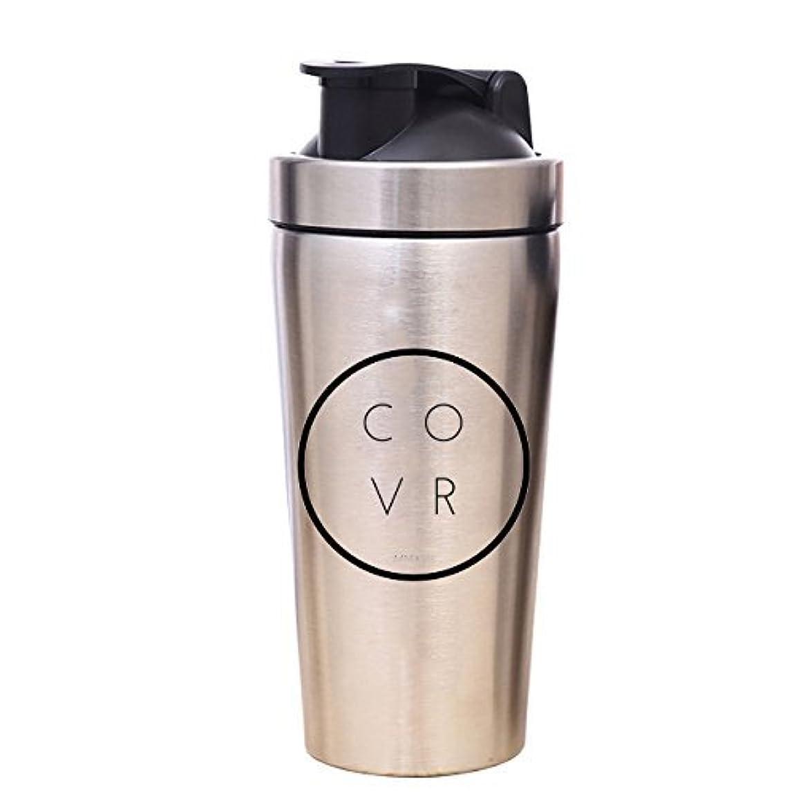 サーバ欠乏傾くメタルジムShaker Bottle – COVR 25 oz