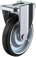 ユーエイキャスター サイレンスキャスター(産業用) 固定車 200mm ゴム ※受注生産品 WFK-200