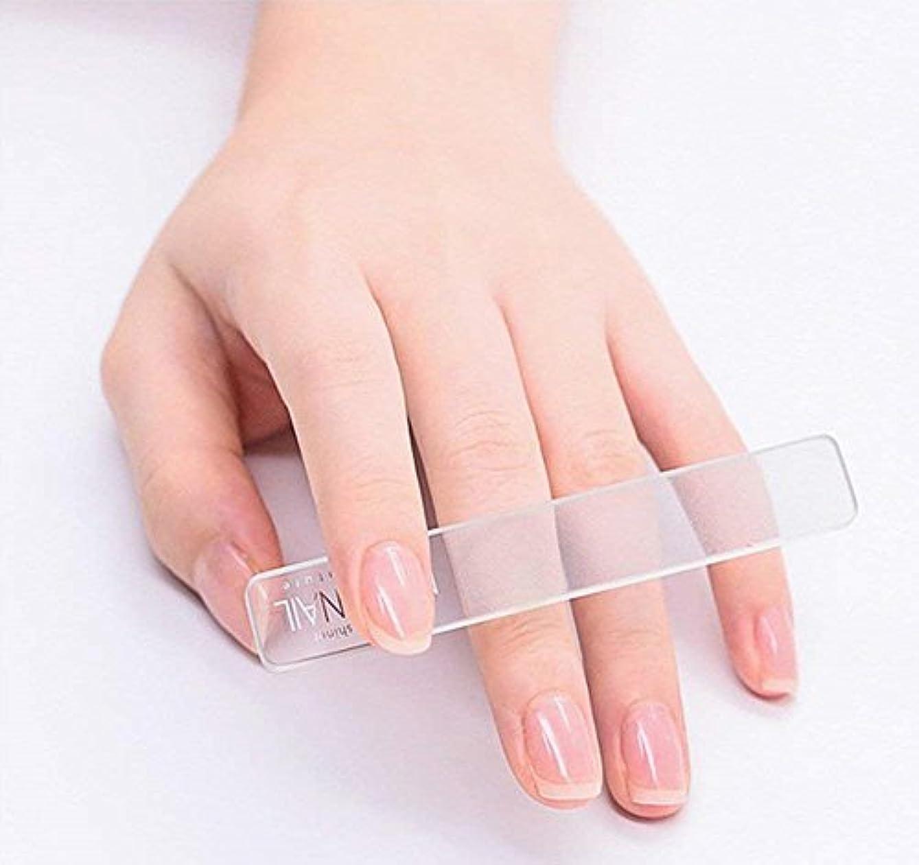 取り戻すまもなく敬意を表するSmartRICH ガラス製ネイルファイル ネイル, 透明ガラスNano研磨 絶妙 爪やすり 爪磨き 立体ナノネイルファイル ネイルケア用品 美しい指先 光沢長持ち