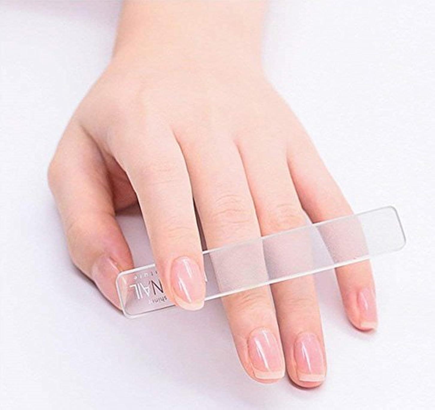 北東大学少なくともSmartRICH ガラス製ネイルファイル ネイル, 透明ガラスNano研磨 絶妙 爪やすり 爪磨き 立体ナノネイルファイル ネイルケア用品 美しい指先 光沢長持ち