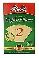 円錐コーヒーフィルタ# 2–ナチュラルブラウン100カウント(2パック)