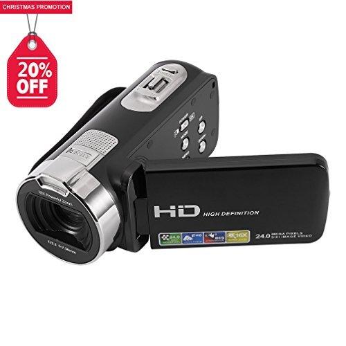 ICOCO ビデオカメラ HD1080P コンパクト 16倍デジタルズーム 3インチ液晶ディスプレイ...