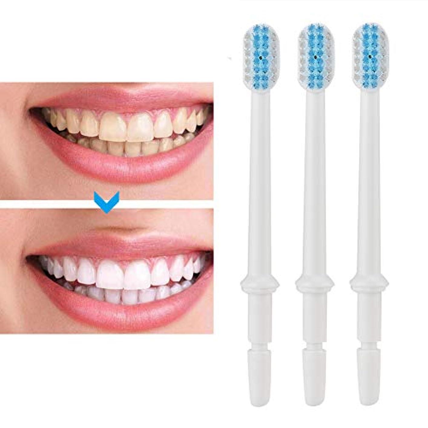 み不正発見する3本/セット歯ブラシノズルフロス歯磨き器フロスノズル交換部品