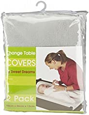 Sweet Dreams Change Table Mattress Cover, Grey, 2 Count