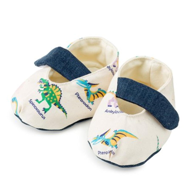 赤ちゃんにやさしい安心ベビーシューズ(日本製) 恐竜王者が大集合(生成) B1801300 日本製
