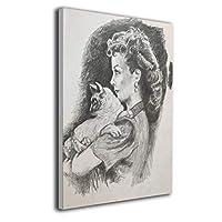 ZGG 絵 ポスター Vivien Leigh アートパネル アートフレーム 壁アート 壁飾り シンプル モダン 取り付けやすい 額なし 釘付き 絵 アートパネル White 30*40cm