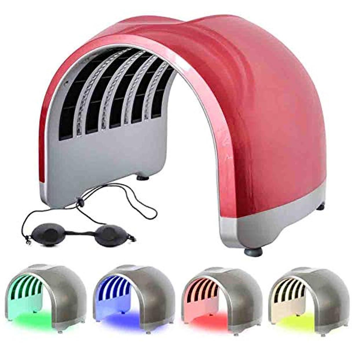 中エンティティテレビPDT 4色のライトセラピーLED美容光線力学にきび治療スキンケアマシン若返りフェイシャル・マシンマスク,2