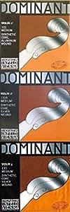 Dominant ドミナント 4/4バイオリン弦 A.D.G線セット(D線シルバー巻)