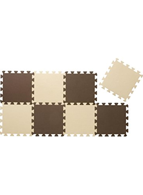忘れっぽい電子階段CBジャパン ジョイントマット 厚め 12mm 8枚組 カラーマット チョコレート
