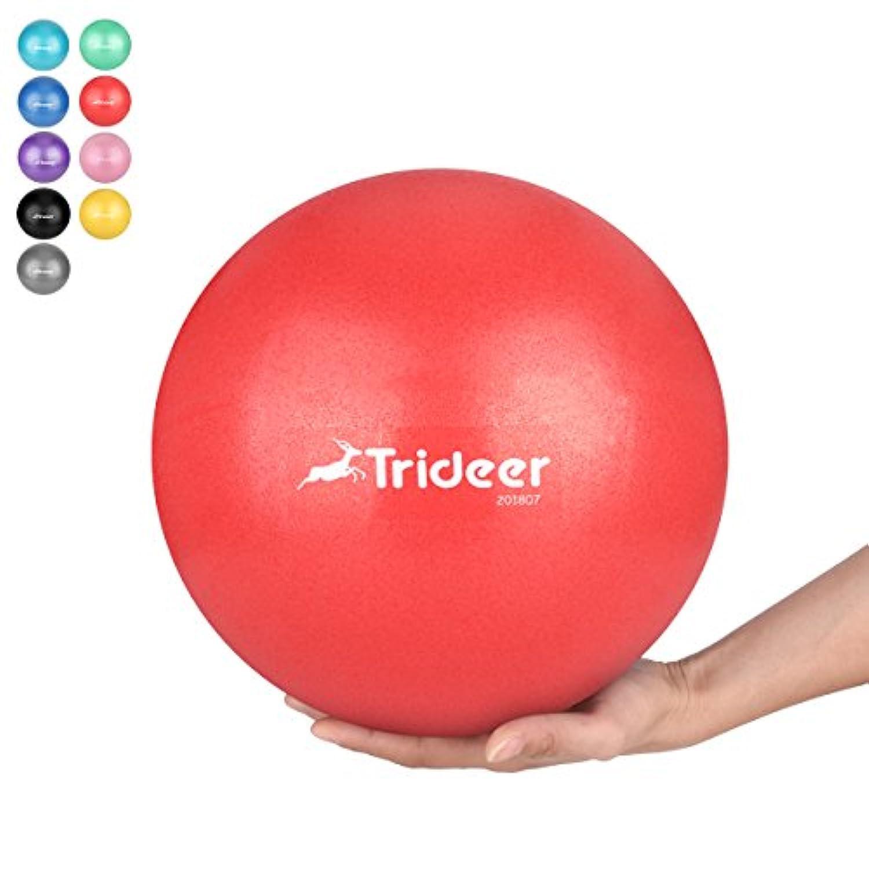 Trideer 25/55/65/75cm バランスボール(固定リング/リング+チューブ付き、ポンプ付き) 500KGピラティスボールエクササイズボール 8色 厚い アンチバースト ストレス解消 筋トレストレッチ 椅子