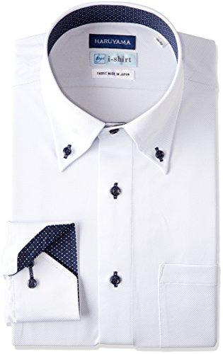 (はるやま) HARUYAMA(ハルヤマ) i-shirt 完全ノーアイロン 長袖 ボタンダウンアイシャツ M151180091 81 サックス L82(首回り41cm×裄丈82cm)