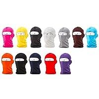 【trentiva】フェイスマスク 多色あり 目出し帽 バラクラバ UVカット 紫外線対策 防寒対策