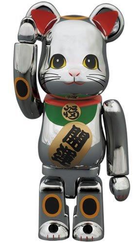 東京スカイツリー・ソラマチ×BE@RBRICK 招き猫ベアブリック(銀メッキ) 100%