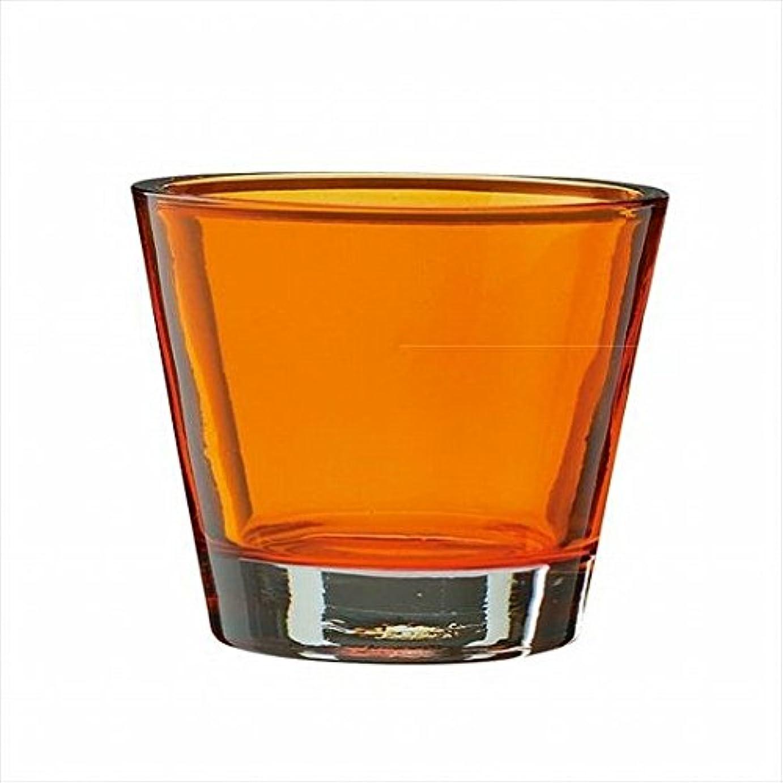 規則性く損傷kameyama candle(カメヤマキャンドル) カラリス 「 オレンジ 」 キャンドル 82x82x70mm (J2540000OR)