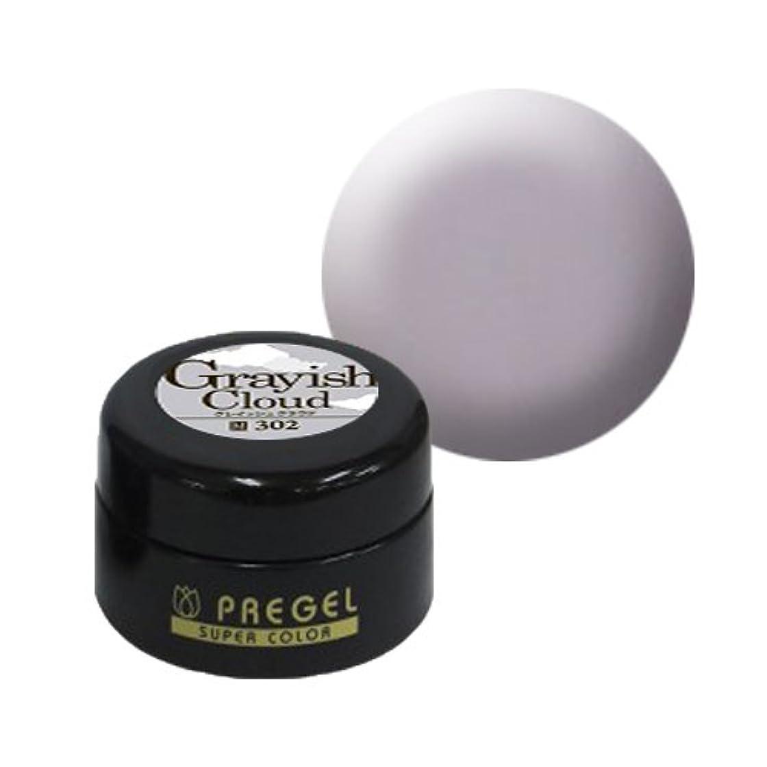 溶けた接地馬鹿【PREGEL】カラーEx グレイッシュクラウド / PG-CE302 【UV&LED】プリジェル カラージェル ジェルネイル用品