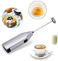 TECHVIDA Handheld Milk Frother, Mini Electric Whisk Coffee Blender, Stainless Steel Mixer, Suitable for Milk Foam,...