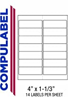 Compulabel Address Labels for Laser and Inkjet Printers,4 x 1 1/3 Inches,Permanent Adhesive,14 per Sheet,1000 Sheets per Carton. [並行輸入品]