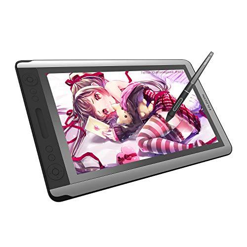 HUION液タブ Kamvas 16 15.6インチ 液晶ペンタブレット傾き検知機能 筆圧8192充電不要ペン アンチグレアガラス搭載 フルHD Adobe RGB75% GS1561