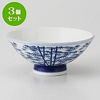 3個セット竹林 厚口中平 [ 12.2 x 5.3cm 135g ] 【 茶碗 】 【 料亭 旅館 和食器 飲食店 業務用 】