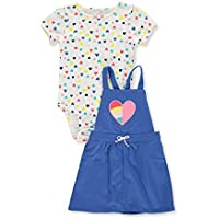 Carter's Baby Girls' 2 Piece Heart Print Bodysuit and Heart Jumper Set