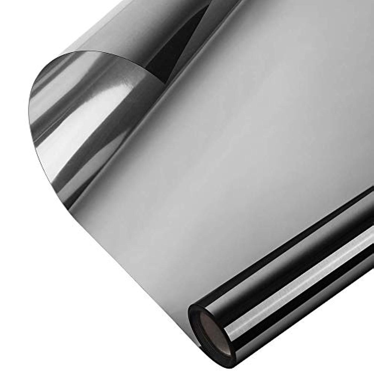 驚稚魚マカダムAlligado ミラーウィンドウフィルム反射ウィンドウフィルム一方向ミラー効果昼間プライバシーステッカーガラスの色合い自己接着ソーラーコントロール断熱材ミラーウィンドウ熱制御フィルム