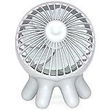 オクトパスファン 卓上扇風機 かわいいタコ型 ライトグレー
