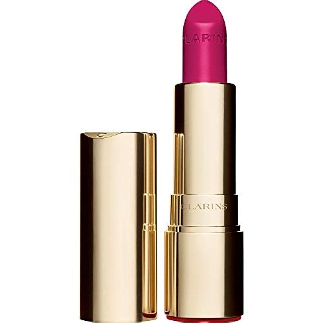 楽観的振りかけるクラウン[Clarins ] クラランスジョリルージュのベルベットの口紅3.5グラムの713V - ホットピンク - Clarins Joli Rouge Velvet Lipstick 3.5g 713V - Hot Pink...