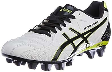 [アシックス] サッカースパイク LETHAL SNIPER 4 RS TSI228(旧モデル) 0090パールホワイト/ブラック 24.5 2E
