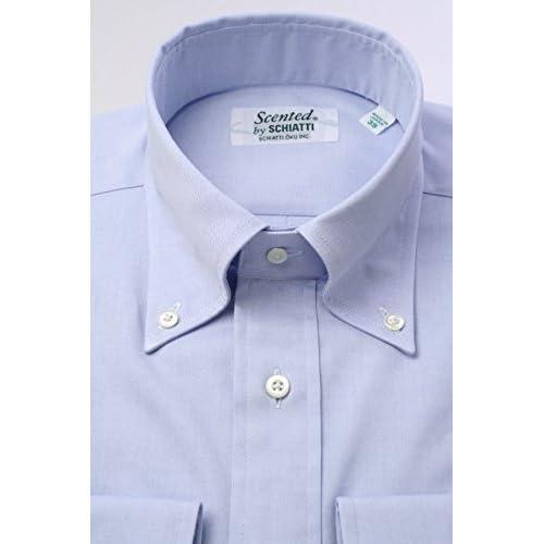(スキャッティ) Scented ブルー無地 ピンポイントオックス ボタンダウン ドレスシャツ bd1207f-4185