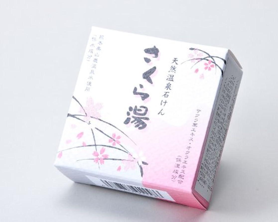 妊娠したポーズマングル地の塩社 和の美肌石けん(さくら湯)100g