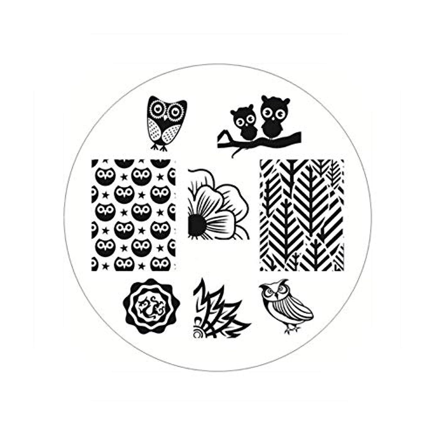 ネコ別々にブッシュ生まれたかわいい長方形のネイルスタンピングプレートラインネイルアートイメージスタンプテンプレートステンシル芸術的な夏のテーマ,BP54
