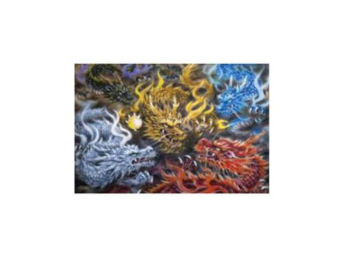 ジクソーパズル 五色の龍 21-105