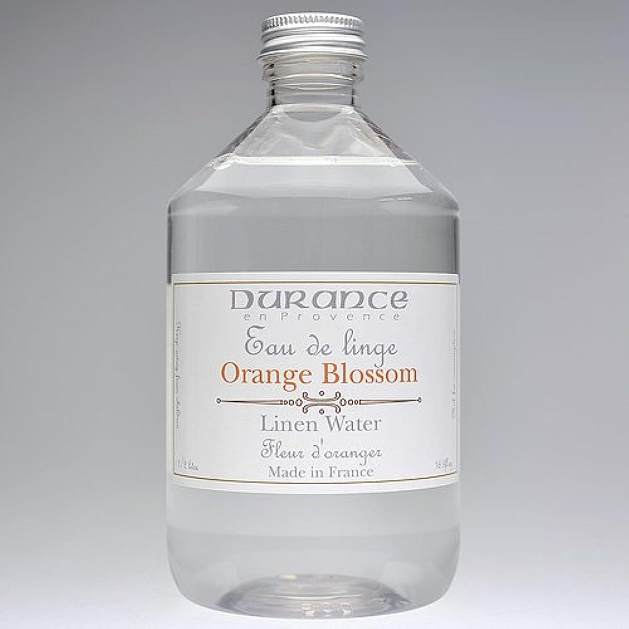 頑固な気を散らす食料品店DURANCE(デュランス) リネンケアシリーズ リネンウォーター 500ml 「フラワーオレンジ」 4994228008619