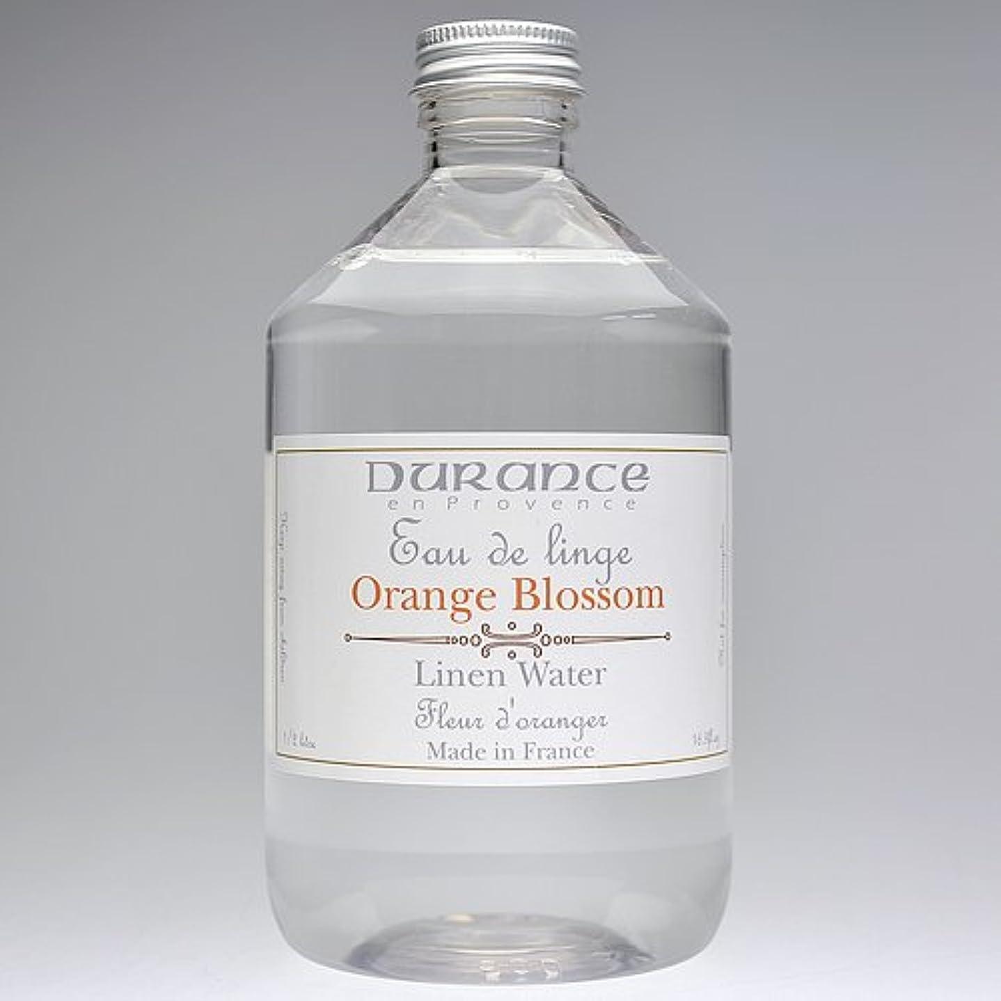 怠な時期尚早旅行DURANCE(デュランス) リネンケアシリーズ リネンウォーター 500ml 「フラワーオレンジ」 4994228008619