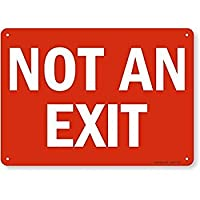 SmartSign Plastic Sign Legend Not an Exit 10 high x 14 wide White on Red [並行輸入品]
